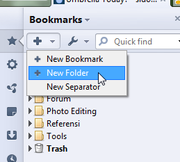 how to make a new bookmark folder